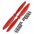 4x 4.5 Propeller Set (one clockwise rotating, one counter-clockwise (red)